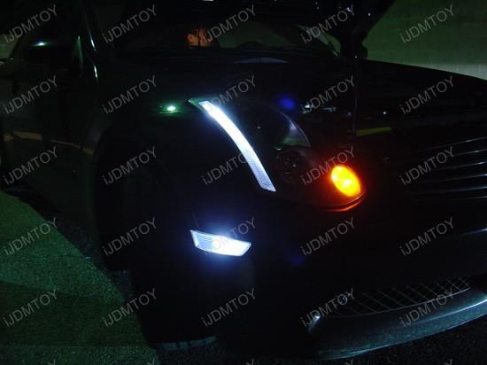 Infiniti - G35 - white - led - sidemarker - parking - lights - 1